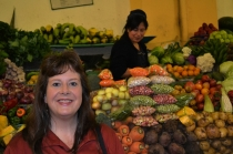 Photo of Terri at the market