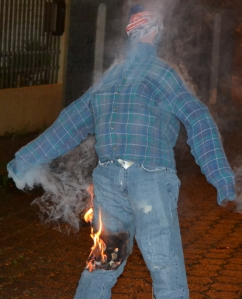 "Burning our straw-filled ""old man""."