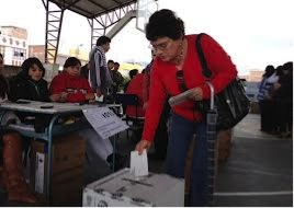 Voting in Ecuador