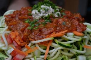 Foto:  Espaghetti con Fideo de Zucchini